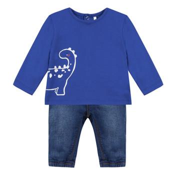 衣服 男孩 女士套装 3 Pommes GABRIEL 蓝色