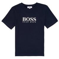 衣服 男孩 短袖体恤 BOSS PILIO 蓝色