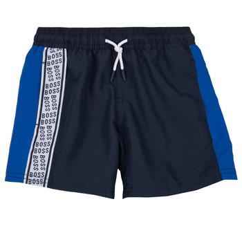 衣服 男孩 短裤&百慕大短裤 BOSS MOZEL 蓝色