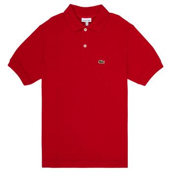 衣服 男孩 短袖保罗衫 Lacoste VINNIE 红色