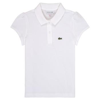 衣服 女孩 短袖保罗衫 Lacoste CAYDEN 白色