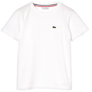 衣服 男孩 短袖体恤 Lacoste NAE 白色
