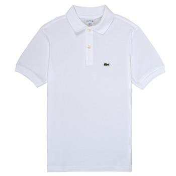 衣服 男孩 短袖保罗衫 Lacoste MARISE 白色