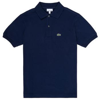 衣服 男孩 短袖保罗衫 Lacoste LOLLA 海蓝色