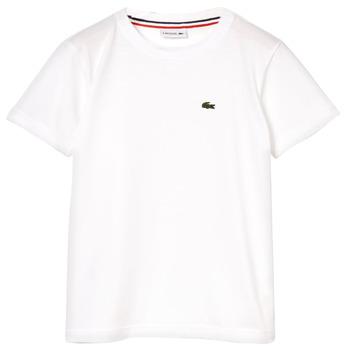 衣服 男孩 短袖体恤 Lacoste ALIZE 白色