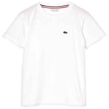衣服 男孩 短袖体恤 Lacoste APAULINE 白色