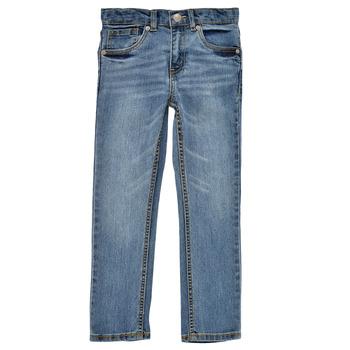 衣服 男孩 牛仔铅笔裤 Levi's 李维斯 511 SKINNY FIT 蓝色 / Edium