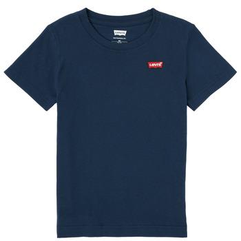 衣服 男孩 短袖体恤 Levi's 李维斯 BATWING CHEST HIT 海蓝色