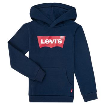 衣服 男孩 卫衣 Levi's 李维斯 BATWING SCREENPRINT HOODIE 海蓝色