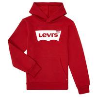 衣服 男孩 卫衣 Levi's 李维斯 BATWING SCREENPRINT HOODIE 红色