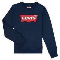 衣服 男孩 卫衣 Levi's 李维斯 BATWING CREWNECK 海蓝色