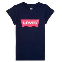 衣服 女孩 短袖体恤 Levi's 李维斯 BATWING TEE 海蓝色