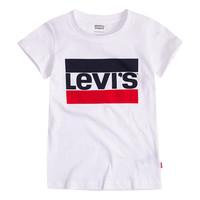 衣服 女孩 短袖体恤 Levi's 李维斯 SPORTSWEAR LOGO TEE 白色