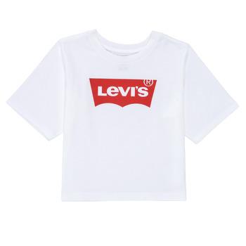 衣服 女孩 短袖体恤 Levi's 李维斯 LIGHT BRIGHT HIGH RISE TOP 白色