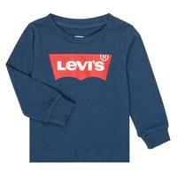 衣服 男孩 长袖T恤 Levi's 李维斯 BATWING TEE LS 海蓝色