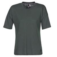 衣服 女士 短袖体恤 adidas Performance 阿迪达斯运动训练 W MH 3S Tee 黑色