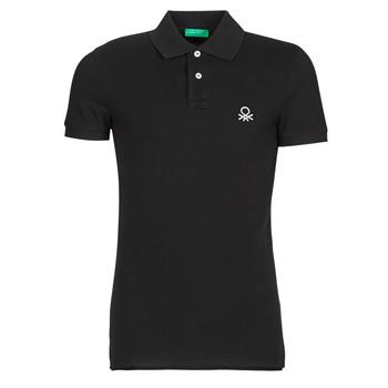 衣服 男士 短袖保罗衫 Benetton MARNELLI 黑色