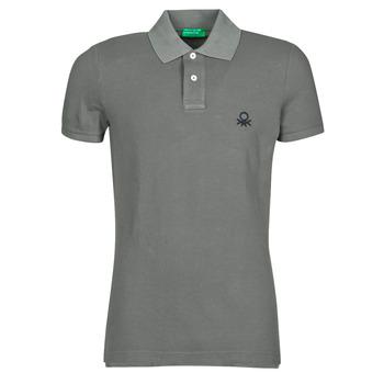 衣服 男士 短袖保罗衫 Benetton MARADI 灰色
