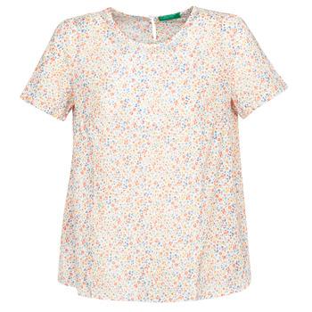 衣服 女士 女士上衣/罩衫 Benetton DANIEL 白色 / 多彩