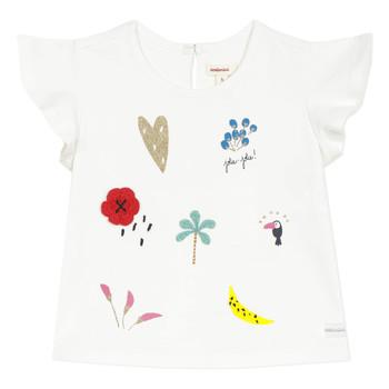衣服 女孩 短袖体恤 Catimini NADEGE 白色