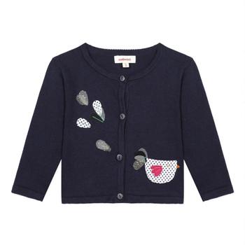 衣服 女孩 羊毛开衫 Catimini LOUNA 蓝色