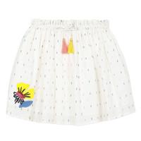 衣服 女孩 半身裙 Catimini ALINA 白色