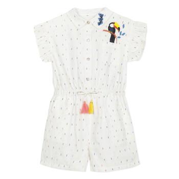 衣服 女孩 连体衣/连体裤 Catimini LUCIUS 白色