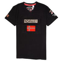 衣服 男孩 短袖体恤 Geographical Norway JIRI 黑色