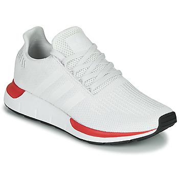 鞋子 男士 球鞋基本款 Adidas Originals 阿迪达斯三叶草 SWIFT RUN 白色 / 红色
