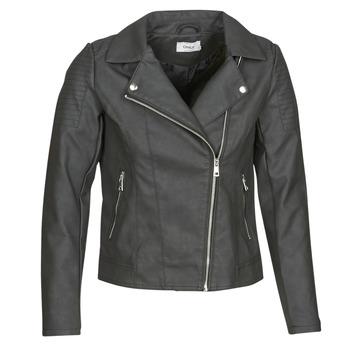 衣服 女士 皮夹克/ 人造皮革夹克 Only ONLMELANIE BIKER 黑色