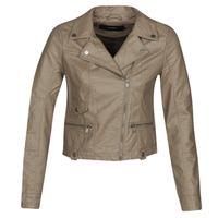 衣服 女士 皮夹克/ 人造皮革夹克 Vero Moda VMULTRAMALOU 灰褐色