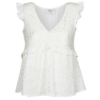 衣服 女士 女士上衣/罩衫 Betty London MOUDINE 白色 / 金色