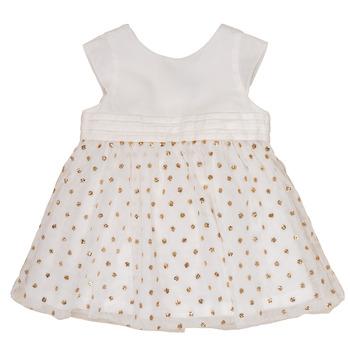 衣服 女孩 短裙 Petit Bateau 小帆船 FAVORITE 白色 / 金色