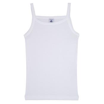 衣服 女孩 无领短袖套衫/无袖T恤 Petit Bateau 小帆船 53295 白色