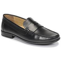 鞋子 男士 皮便鞋 André OFFICE 黑色