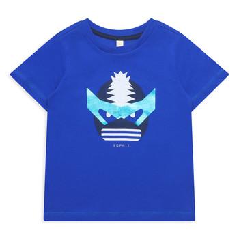 衣服 女孩 短袖体恤 Esprit 埃斯普利 ENORA 蓝色