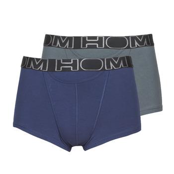 内衣  男士 拳击 Hom HOM BOXERLINES BOXER BRIEF HO1 PACK X2 灰色 / 海蓝色