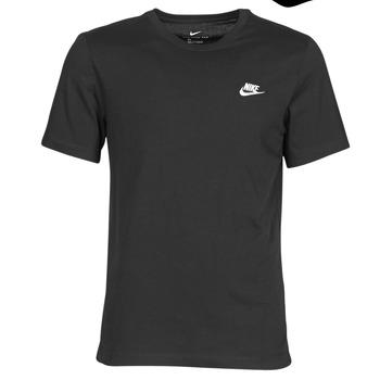 衣服 男士 短袖体恤 Nike 耐克 M NSW CLUB TEE 黑色 / 白色