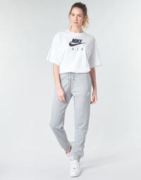 衣服 女士 厚裤子 Nike 耐克 W NSW ESSNTL PANT REG FLC 灰色 / 白色