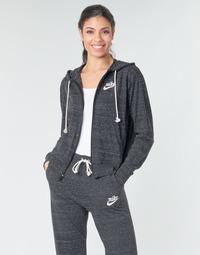 衣服 女士 卫衣 Nike 耐克 W NSW GYM VNTG HOODIE FZ 灰色