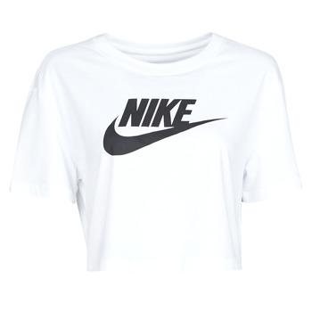 衣服 女士 短袖体恤 Nike 耐克 W NSW TEE ESSNTL CRP ICN FTR 白色 / 黑色
