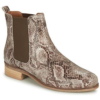 鞋子 女士 短筒靴 André PANACOTTA 米色