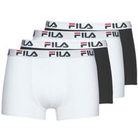 内衣  男士 拳击 Fila Pack de 4 黑色 / 白色