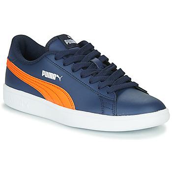 鞋子 儿童 球鞋基本款 Puma 彪马 SMASH JR ME 海蓝色