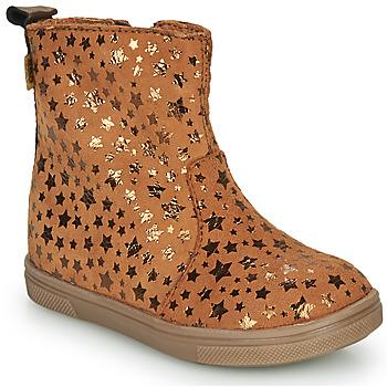 鞋子 女孩 短筒靴 GBB ERNA 棕色
