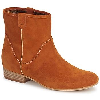 鞋子 女士 短筒靴 Vic 维克 MUI 铁锈色
