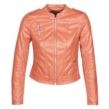 衣服 女士 皮夹克/ 人造皮革夹克 Vero Moda VMAWARDALMA 砖红色