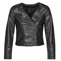 衣服 女士 皮夹克/ 人造皮革夹克 Only ONLDALY 黑色