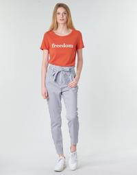 衣服 女士 休闲裤 Vero Moda VMEVA 白色 / 灰色