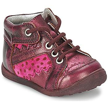 鞋子 女孩 短筒靴 Catimini CABILLAUD 玫瑰色 / 棕色